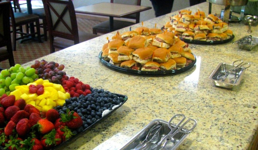 catering an open house